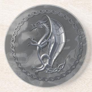 Silver Celtic Dragon Coaster