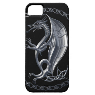 Silver Celtic Dragon iPhone 5 Cases