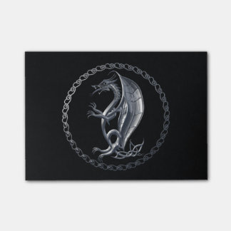 Silver Celtic Dragon Post-it Notes
