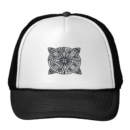 Silver Celtic Knot Customizable Mesh Hats
