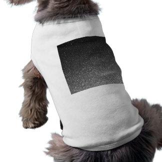 Silver Charcoal Rising Glitter Stripes Print Dog T Shirt