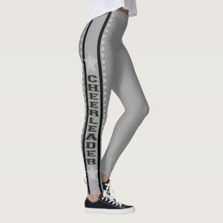 Silver cheerleader design pattern leggings