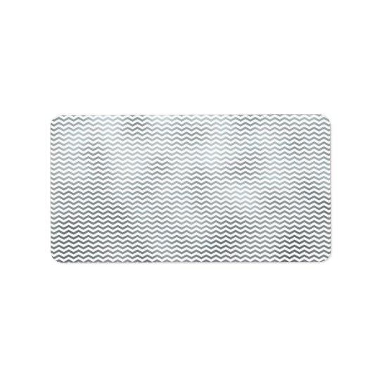 Silver Chevron Metallic Faux Foil Pattern Texture Address
