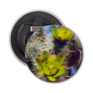 Silver Cholla Cactus Wildflowers Bottle Opener