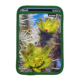 Silver Cholla Cactus Wildflowers iPad Mini Sleeve