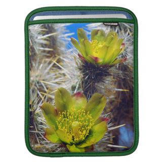 Silver Cholla Cactus Wildflowers iPad Sleeve