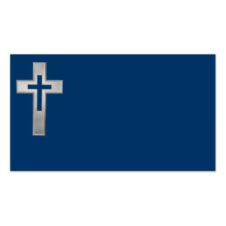 Silver Christian cross Pack Of Standard Business Cards