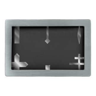 Silver christian crosses in different designs belt buckle