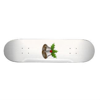 Silver Christmas Bells Custom Skate Board