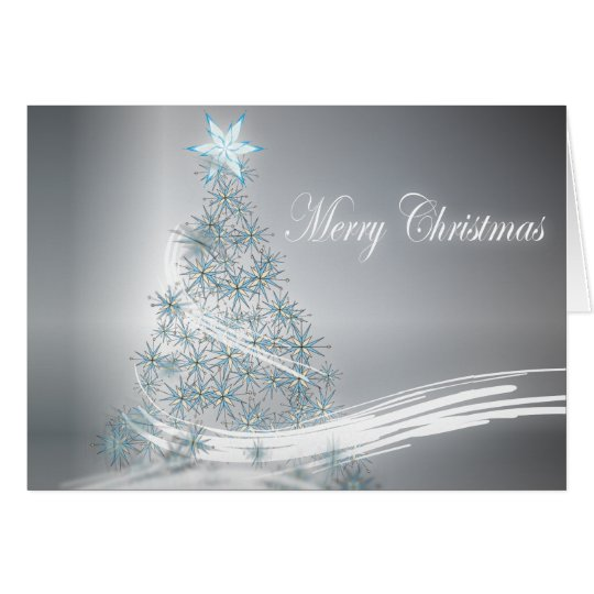Silver Christmas Corporate Greeting Card