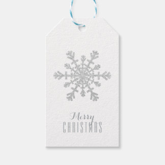 Silver Christmas Snowflake and Glitter and Sparkle Gift Tags
