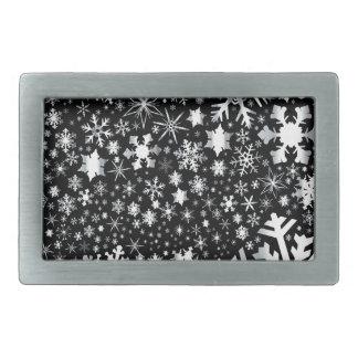 Silver Christmas Snowflakes Belt Buckles