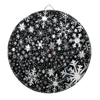 Silver Christmas Snowflakes Dartboard With Darts