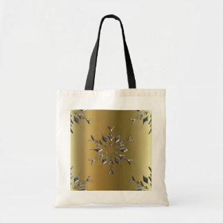 Silver Christmas Stars Tote Bag