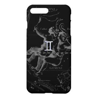 Silver Chrome like Gemini Zodiac Sign on Hevelius iPhone 7 Plus Case