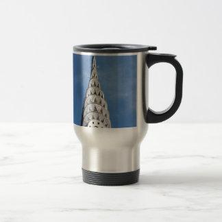 Silver Chrysler Building Stainless Steel Travel Mug