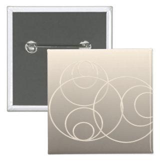 silver circles 15 cm square badge