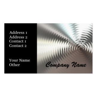 Silver Circular Metal Design Business Cards