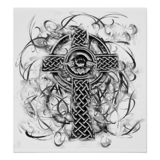 """Silver Claddagh Cross"" Sarah Doherty 2008 Poster"