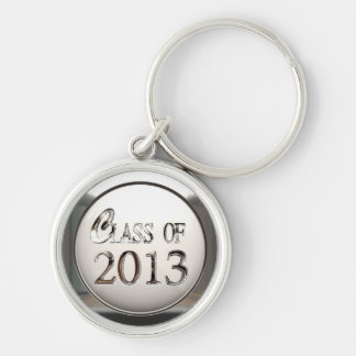 Silver Class Of 2013 Premium Keychain