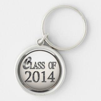 Silver Class Of 2014 Premium Keychain