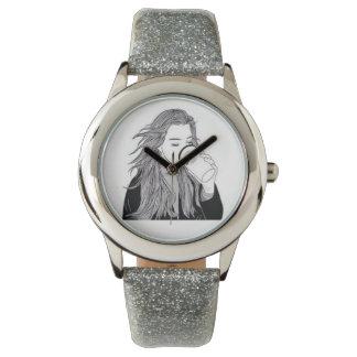 Silver Coffee Wristwatch