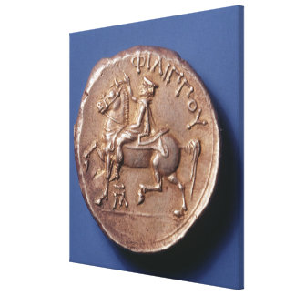 Silver coin of Philip II of Macedon Canvas Prints