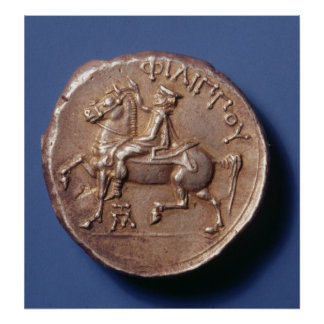 Silver coin of Philip II of Macedon Poster