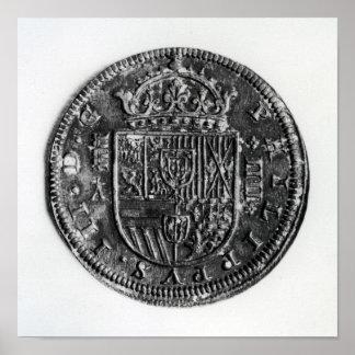Silver coin poster