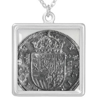 Silver coin silver plated necklace