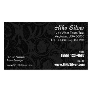 Silver Coins Business Card