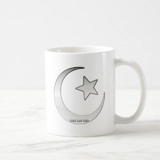 Silver Colored Star and Crescent Symbol Coffee Mug