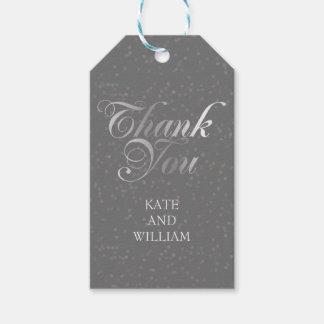 Silver Confetti and Script Thank You