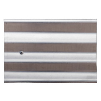 Silver Corrugated Sheet Metal Placemat