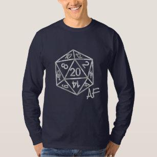 Silver D20 Crit AF   PNP Tabletop Role Player Dice T-Shirt