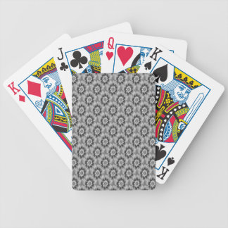 Silver Daisies Playing Cards