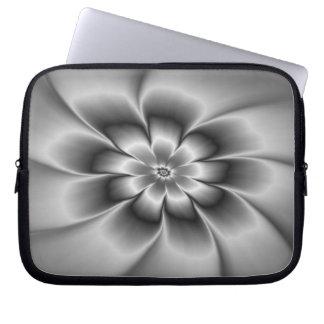Silver Daisy Laptop Sleeve