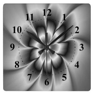 Silver Daisy Wall Clock