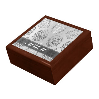 Silver damask personalized mom gift box
