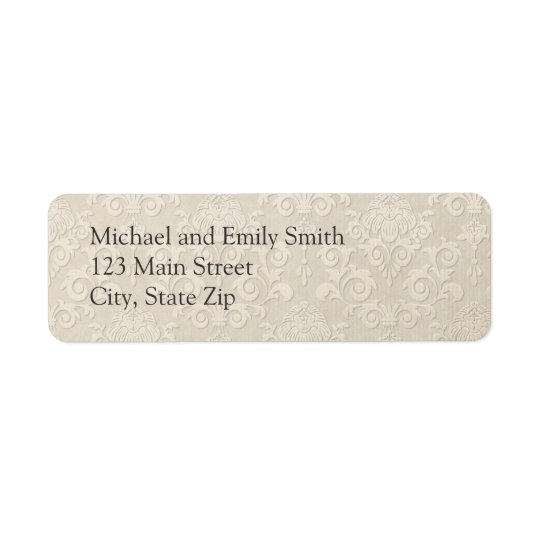 Silver Damask Return Address Labels