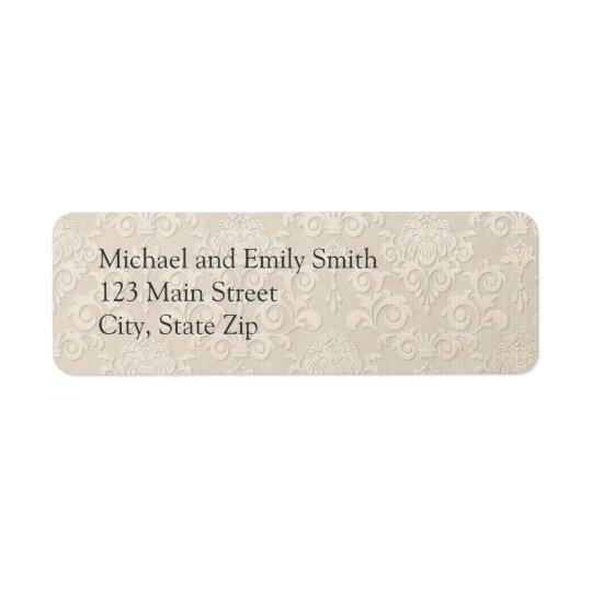 Silver Damask Return Address Labels