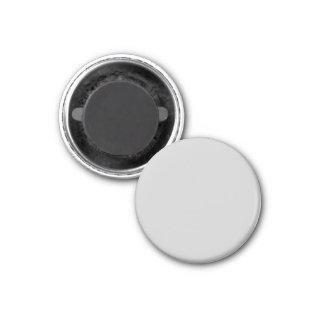 Silver Dandelion in an English Country Garden 1 Inch Round Magnet