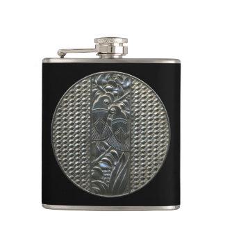 Silver Deco Lovebirds Flask