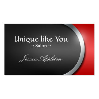 Silver-Design Curve - Red Appointment Cards Business Card Templates