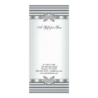 Silver Diamonds Business Gift Certificates Rack Cards