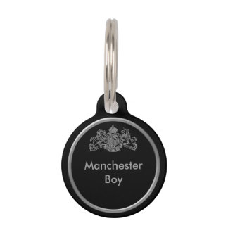 Silver Dieu et Mon Droit British Coat of Arms Pet Tag