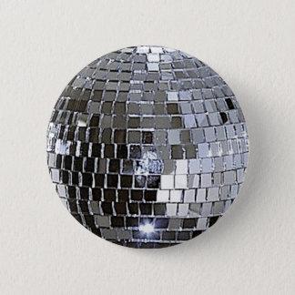 Silver Disco Ball 6 Cm Round Badge