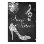 Silver Disco Ball and Sparkle Heels Black Sweet 16