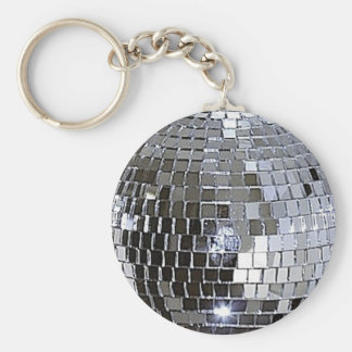 Silver Disco Ball Key Ring