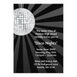 Silver Disco Ball Party Dance Prom Formal Personalised Invite